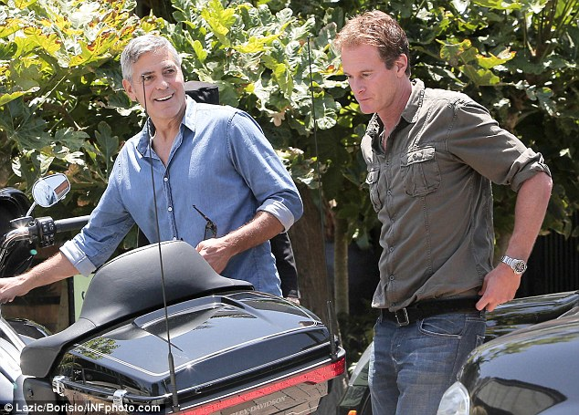 George Clooney and Rande Gerber at Cafe Habana More310
