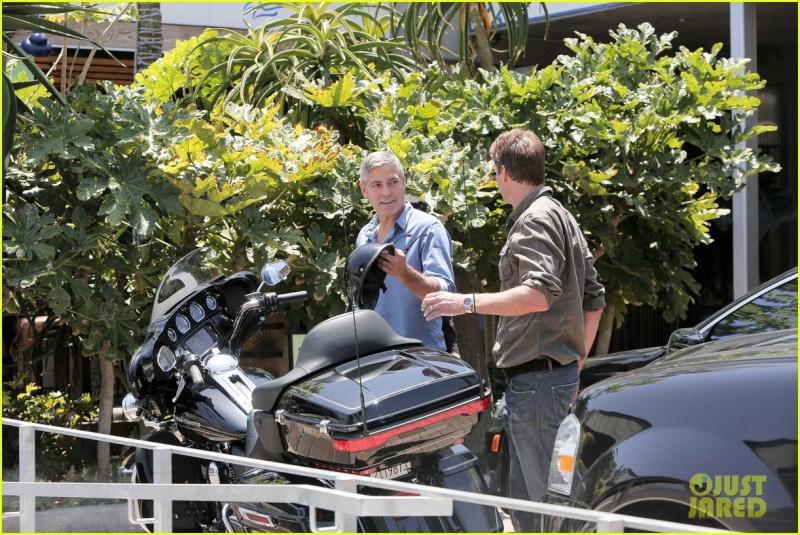 George Clooney and Rande Gerber at Cafe Habana Neu210