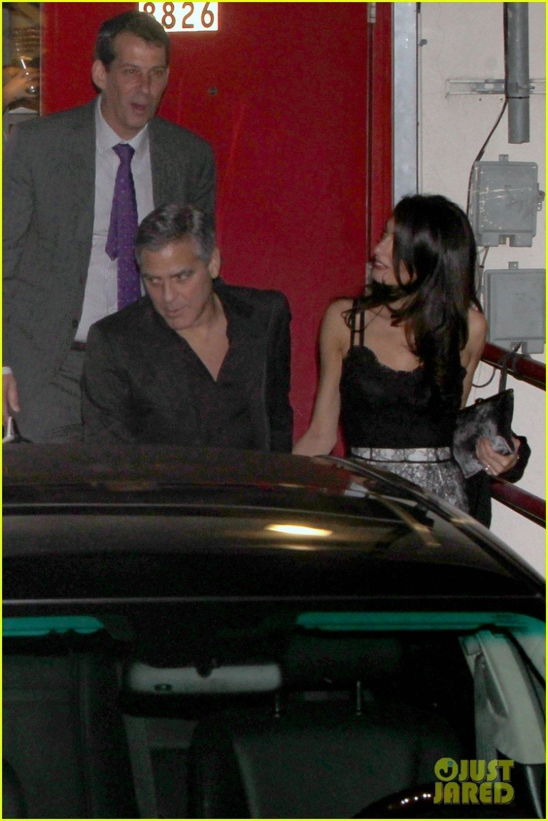 George Clooney and wife at Craig's restaurant in Hollywood Neu316