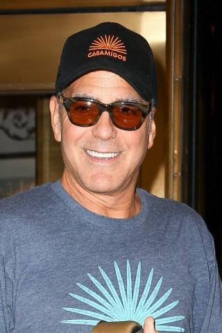 George Clooney at the Carlyle hotel after ComicCon promo Neu414