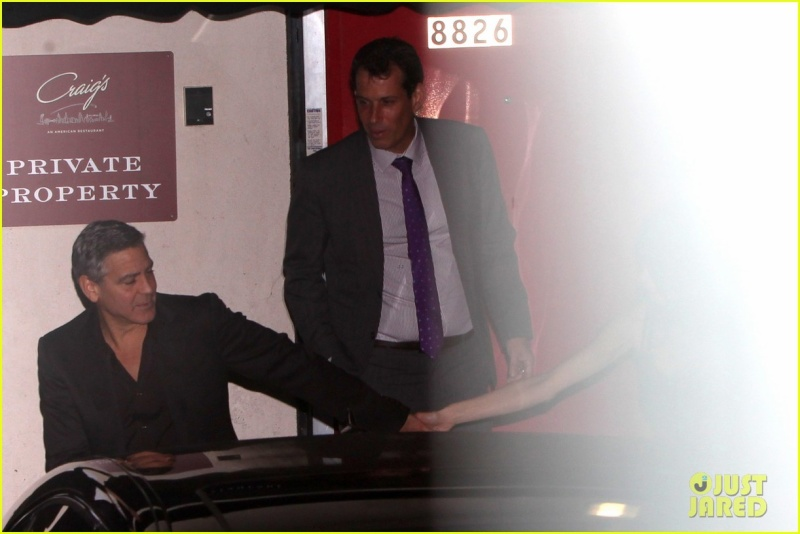 George Clooney and wife at Craig's restaurant in Hollywood Neu416