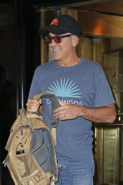 George Clooney at the Carlyle hotel after ComicCon promo Neu514