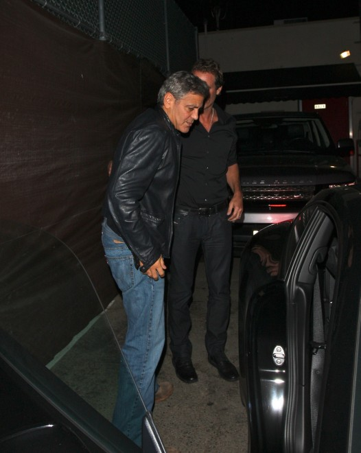George Clooney out at Saturday night in Hollywood Neu515