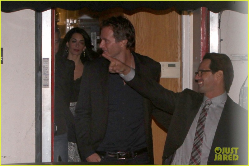 George Clooney and wife at Craig's restaurant in Hollywood Neu516