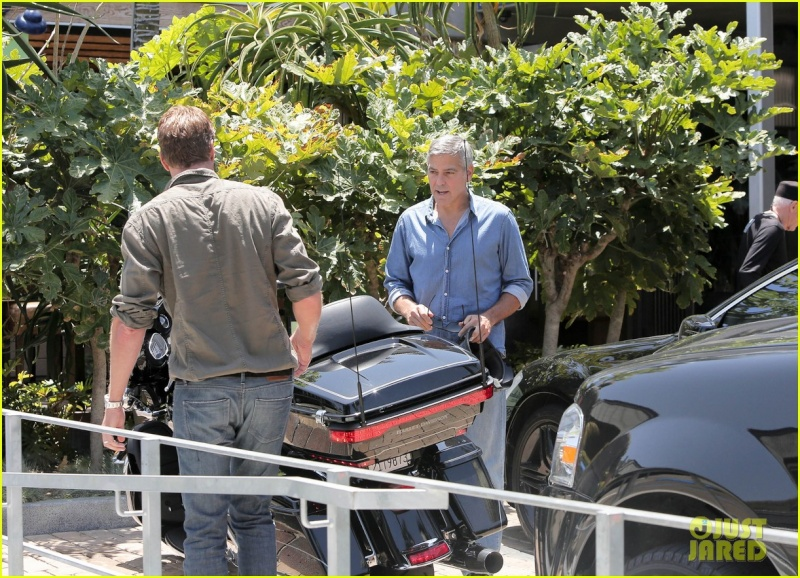 George Clooney and Rande Gerber at Cafe Habana Neu610