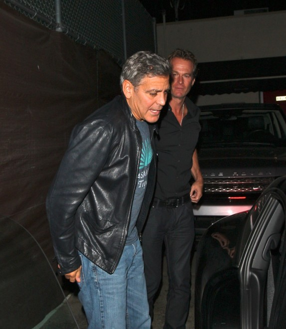 George Clooney out at Saturday night in Hollywood Neu614