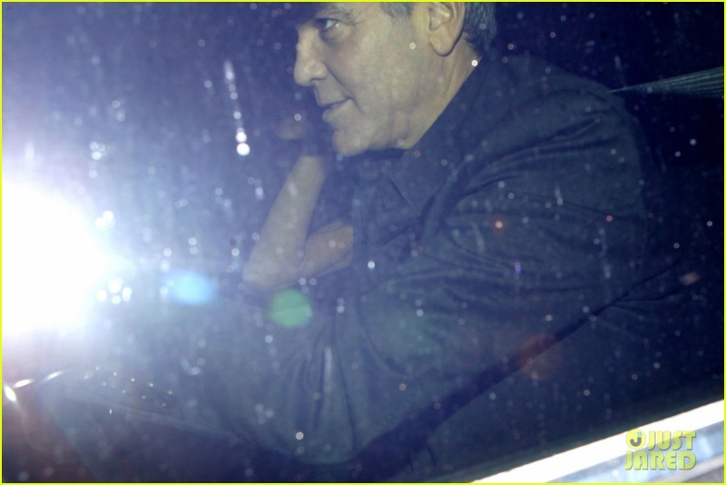 George Clooney and wife at Craig's restaurant in Hollywood Neu615