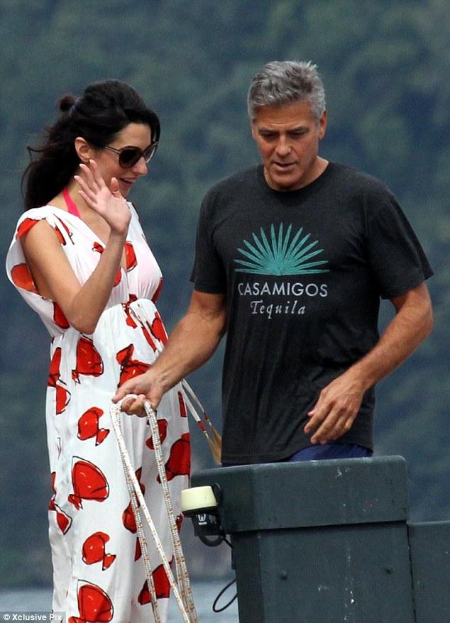 Photos: George Clooney and Amal Alamuddin boating on Lake Como Neww10