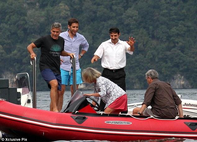 Photos: George Clooney and Amal Alamuddin boating on Lake Como Neww210