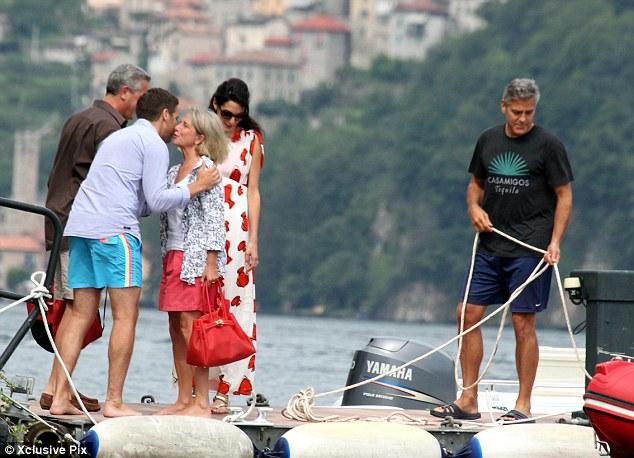Photos: George Clooney and Amal Alamuddin boating on Lake Como Neww310