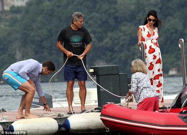 Photos: George Clooney and Amal Alamuddin boating on Lake Como Neww410