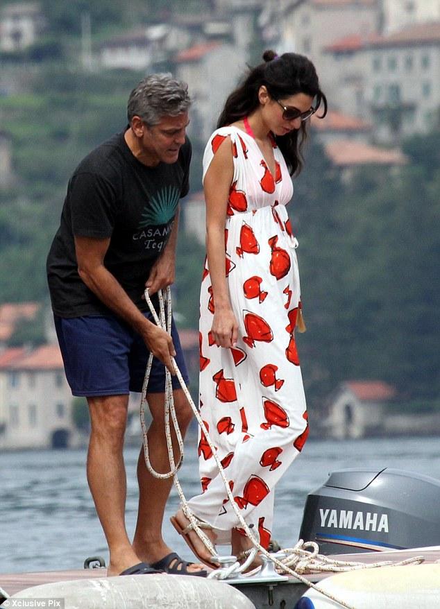 Photos: George Clooney and Amal Alamuddin boating on Lake Como Neww510