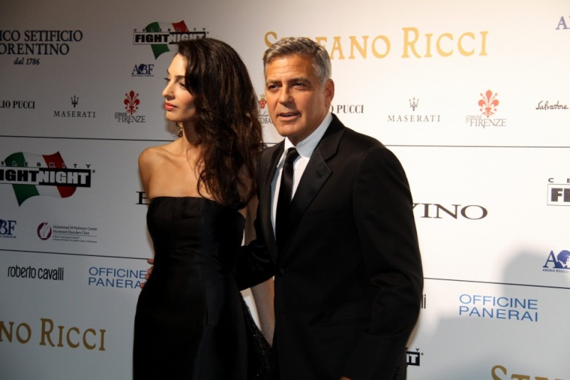 George Clooney and Amal to visit the Celebrity Fight Night Foundation in Florence Oh310