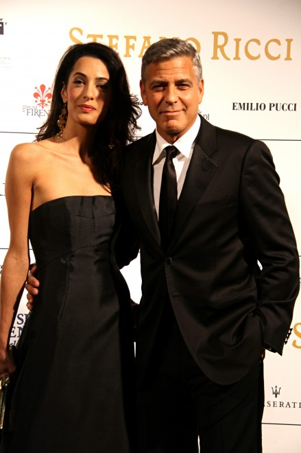 George Clooney and Amal to visit the Celebrity Fight Night Foundation in Florence Oh410