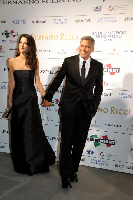 George Clooney and Amal to visit the Celebrity Fight Night Foundation in Florence Oh510