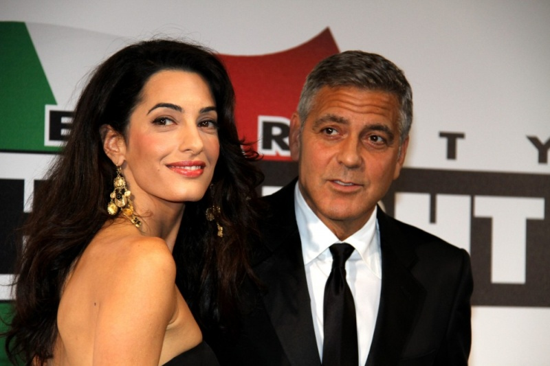 George Clooney and Amal to visit the Celebrity Fight Night Foundation in Florence Oh610