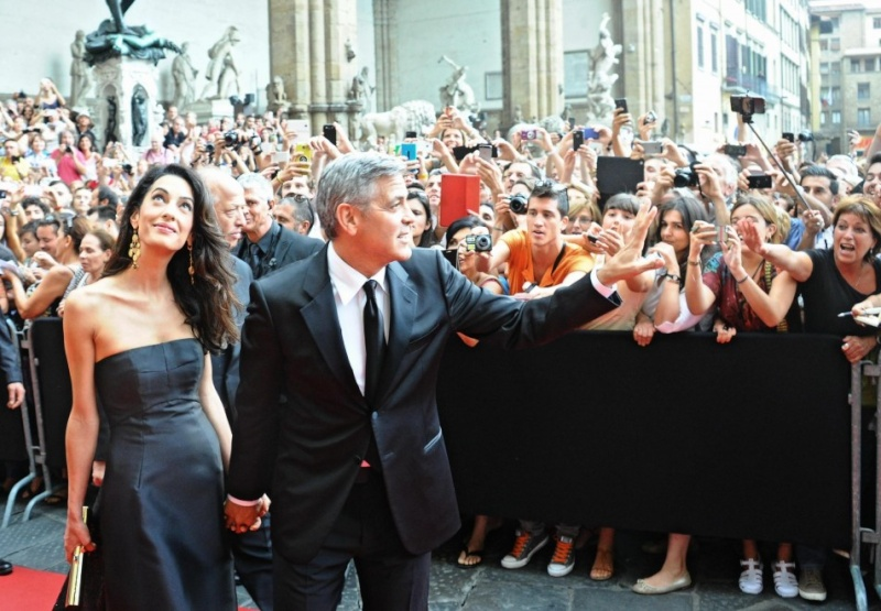 George Clooney and Amal to visit the Celebrity Fight Night Foundation in Florence Oh710