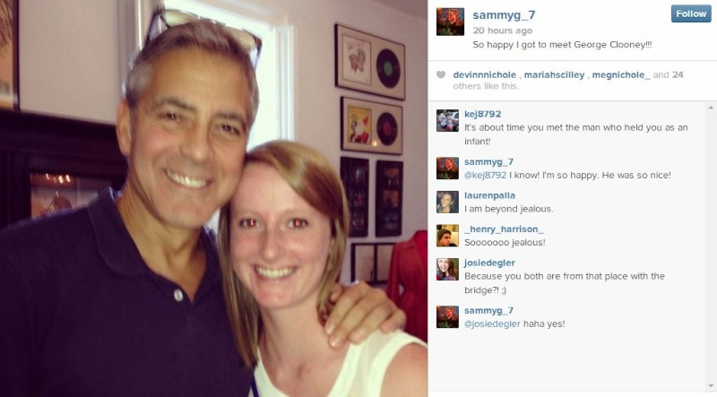 George Clooney meets Fans in Augusta Kentucky - Rosemary Clooney Museum One_mo10