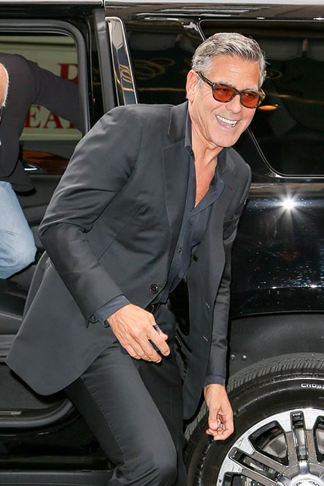 George Clooney at the Carlyle hotel NYC  Pac10