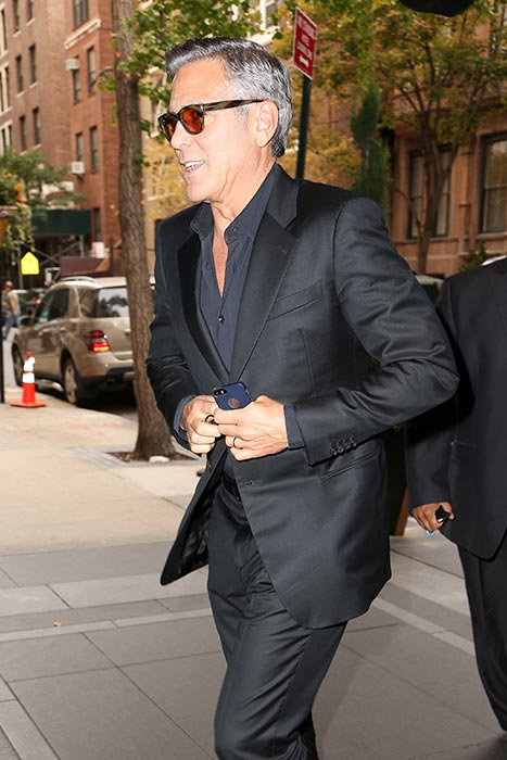 George Clooney at the Carlyle hotel NYC  Pac310