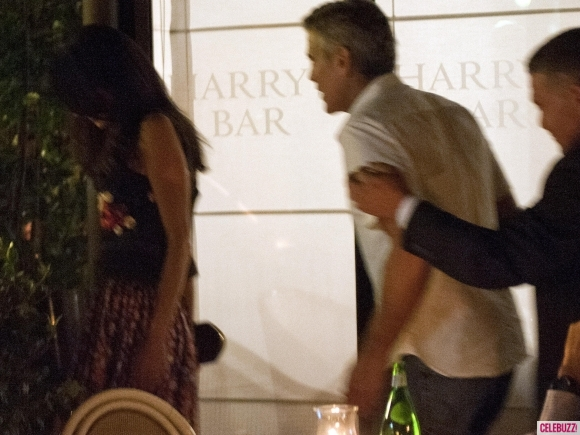 George Clooney & Fiancee Amal Alamuddin Step Out for Romantic Dinner at Harry's Bar! Pan210