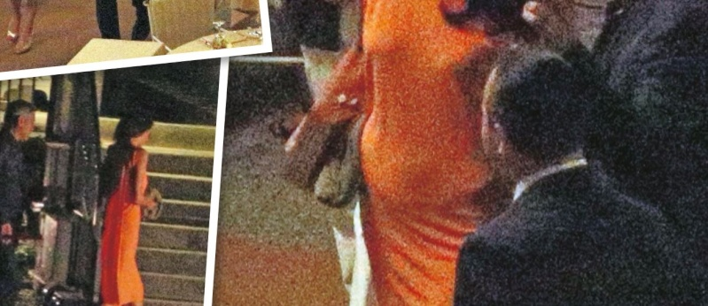 George Clooney and Amal dining at Villa d'este in Lake Como, Italy, on Aug. 29. 2014 Part210