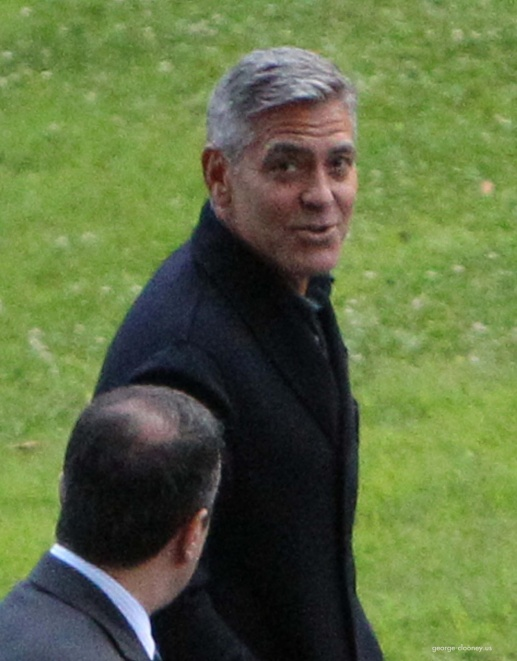 George Clooney and Grant Heslov at Villa D'Este yesterday in Como Pic12