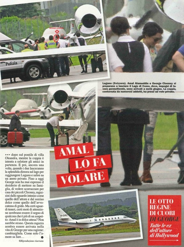 George Clooney and Amal Alamuddin leaving Italy on private jet Pic13