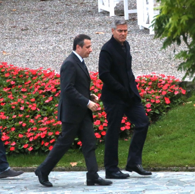 George Clooney and Grant Heslov at Villa D'Este yesterday in Como Pic212