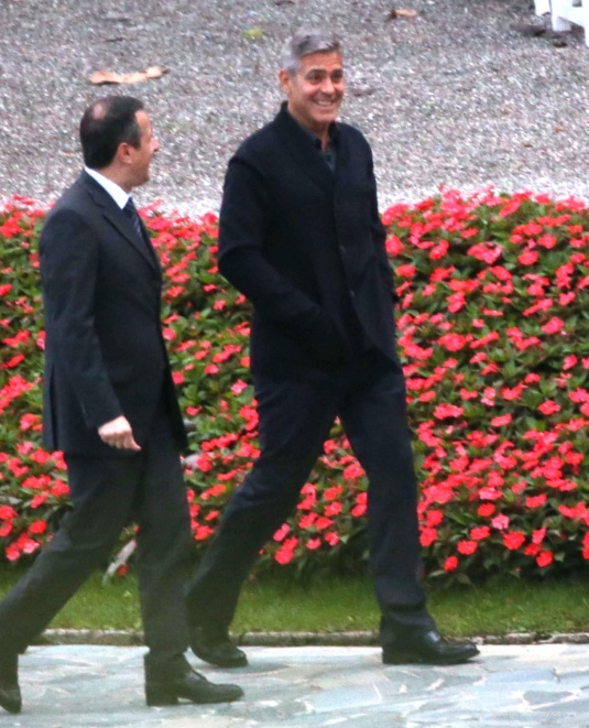 George Clooney and Grant Heslov at Villa D'Este yesterday in Como Pic311