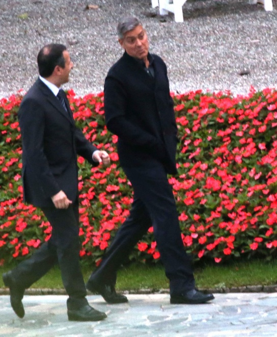 George Clooney and Grant Heslov at Villa D'Este yesterday in Como Pic411