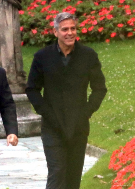 George Clooney and Grant Heslov at Villa D'Este yesterday in Como Pic710