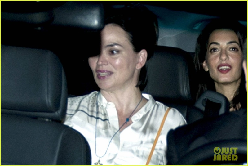 George Clooney & Fiancee Amal Alamuddin Make It a Family Night in Italy! Pp10