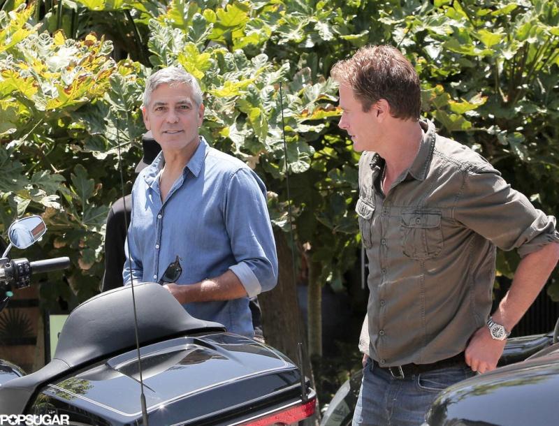George Clooney and Rande Gerber at Cafe Habana Rande10
