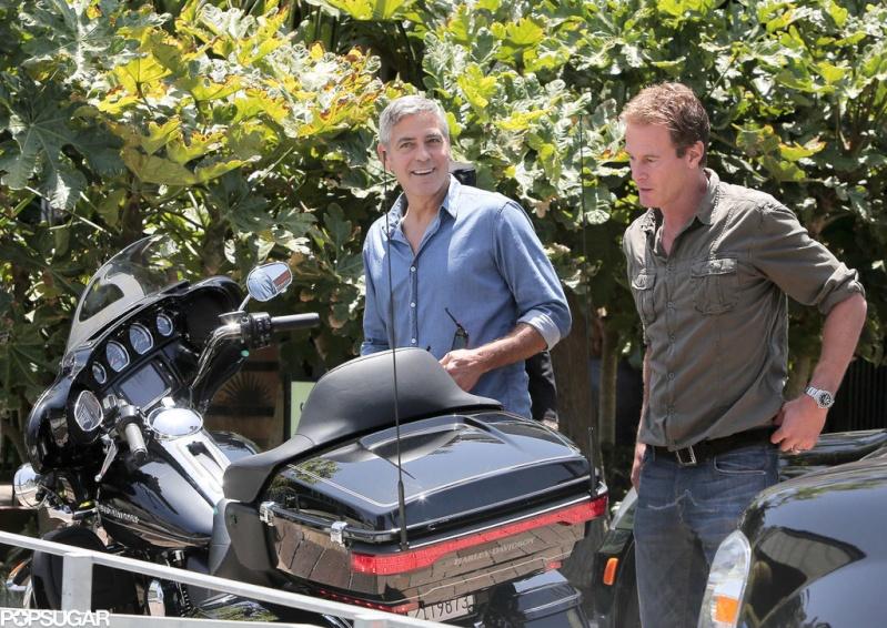 George Clooney and Rande Gerber at Cafe Habana Rande210