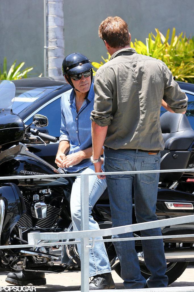 George Clooney and Rande Gerber at Cafe Habana Rande510