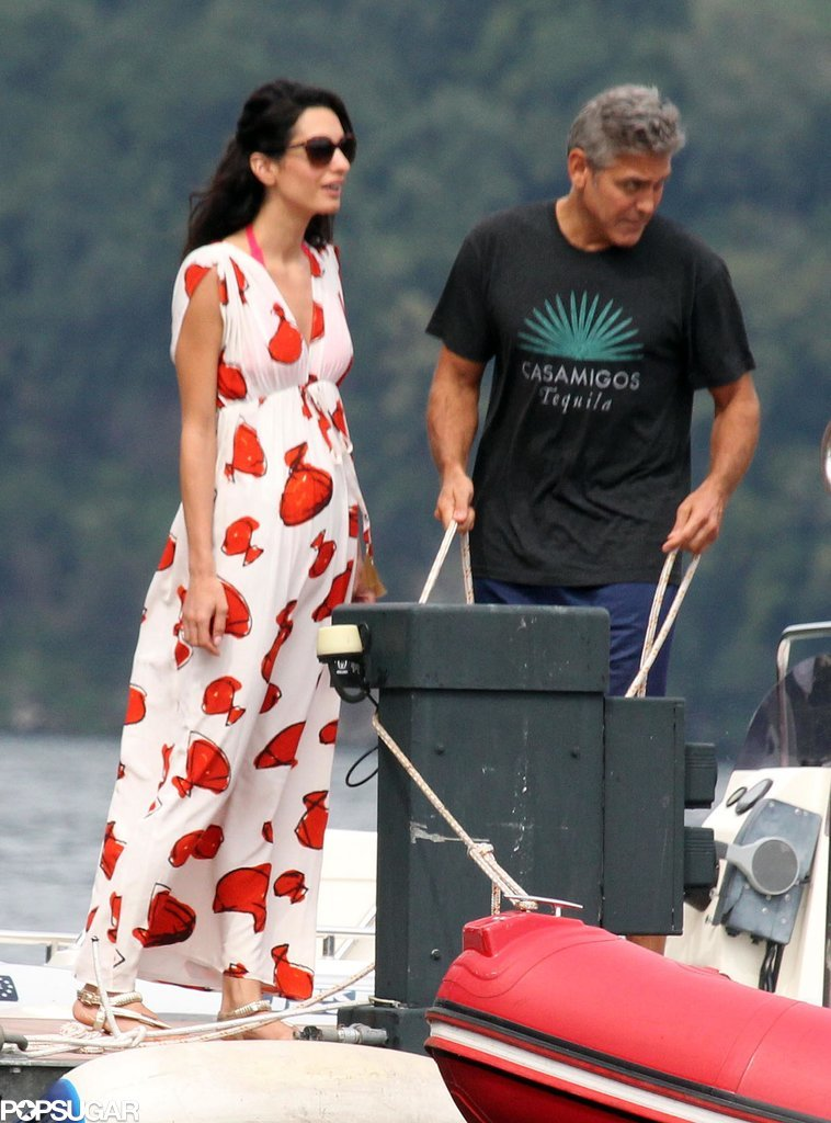 Photos: George Clooney and Amal Alamuddin boating on Lake Como Sch10
