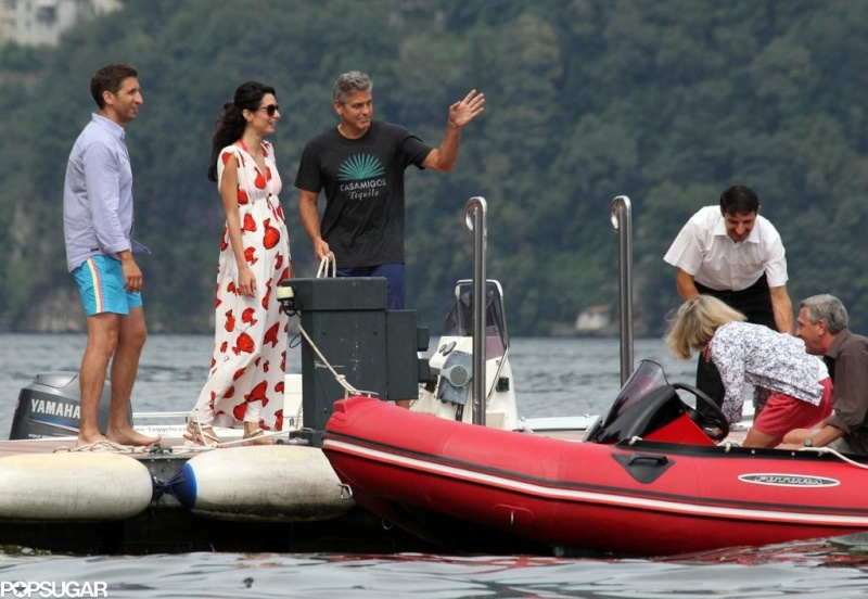 Photos: George Clooney and Amal Alamuddin boating on Lake Como Sch210