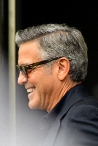 George Clooney at the Carlyle hotel NYC  Sm10