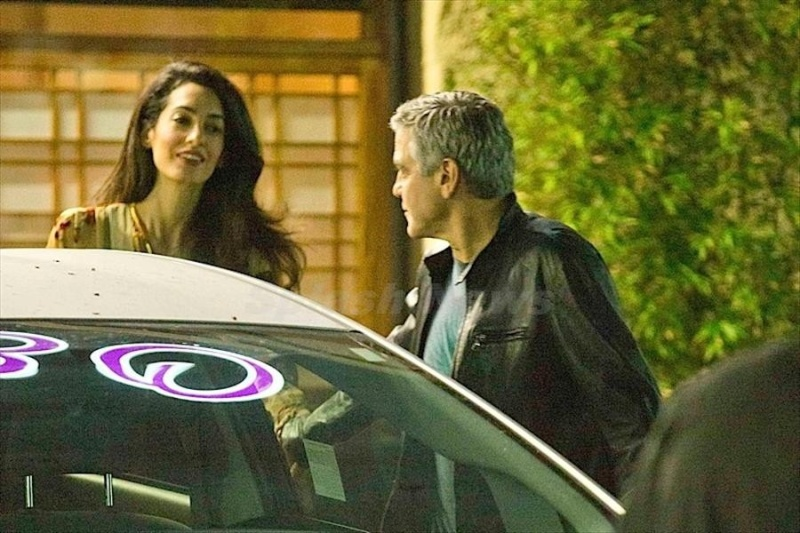 George Clooney and Amal back at Asanebo Sushi restaurant in Studio City Su10