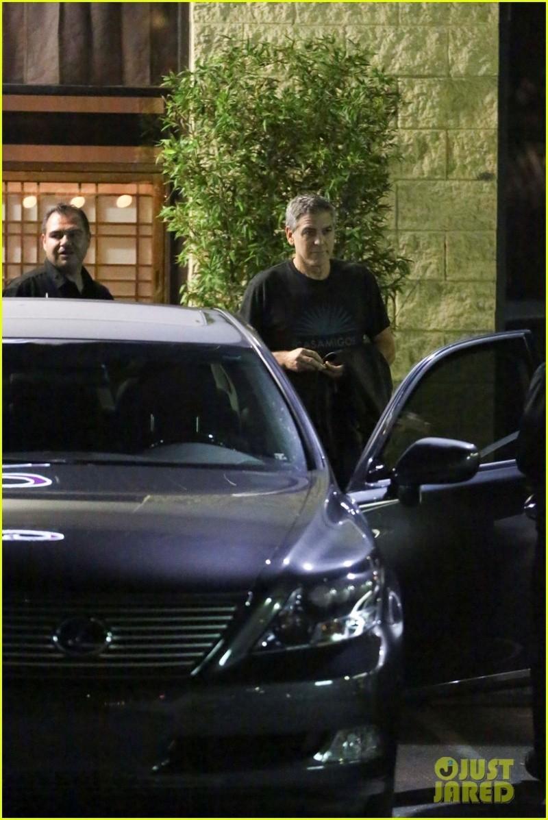 George and Amal Clooney eat at Asanebo again Su211