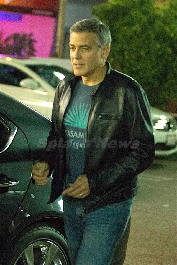 George Clooney and Amal back at Asanebo Sushi restaurant in Studio City Su510