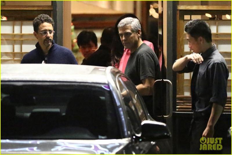 George and Amal Clooney eat at Asanebo again Su511