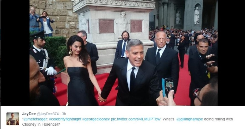 George Clooney and Amal to visit the Celebrity Fight Night Foundation in Florence Twit10