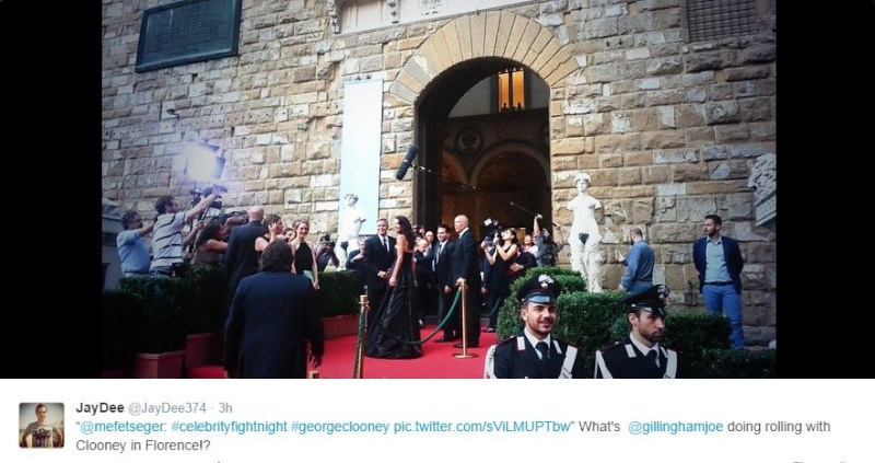 George Clooney and Amal to visit the Celebrity Fight Night Foundation in Florence Twit210
