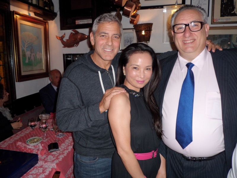 George and Amal having dinner at Da Ivo in Venice Ven10