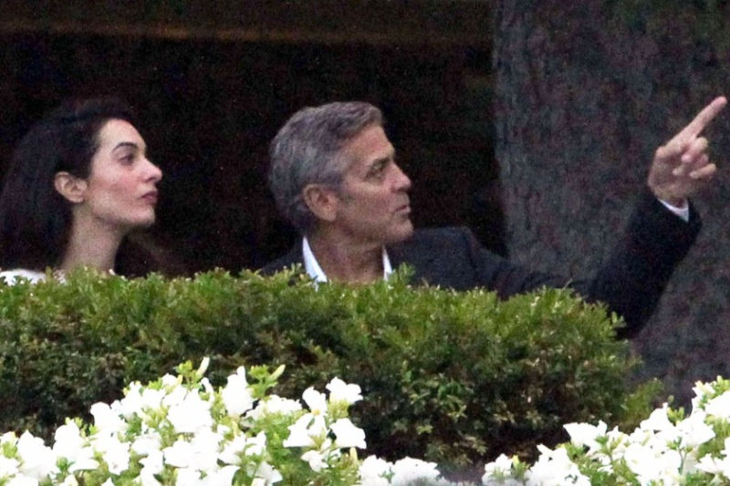 Photos surface of Clooney and Amal scouting wedding venues at Lake Como Ven810