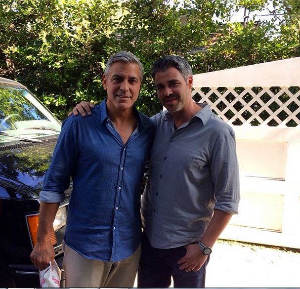 George Clooney shooting a new commercial  Werbun10
