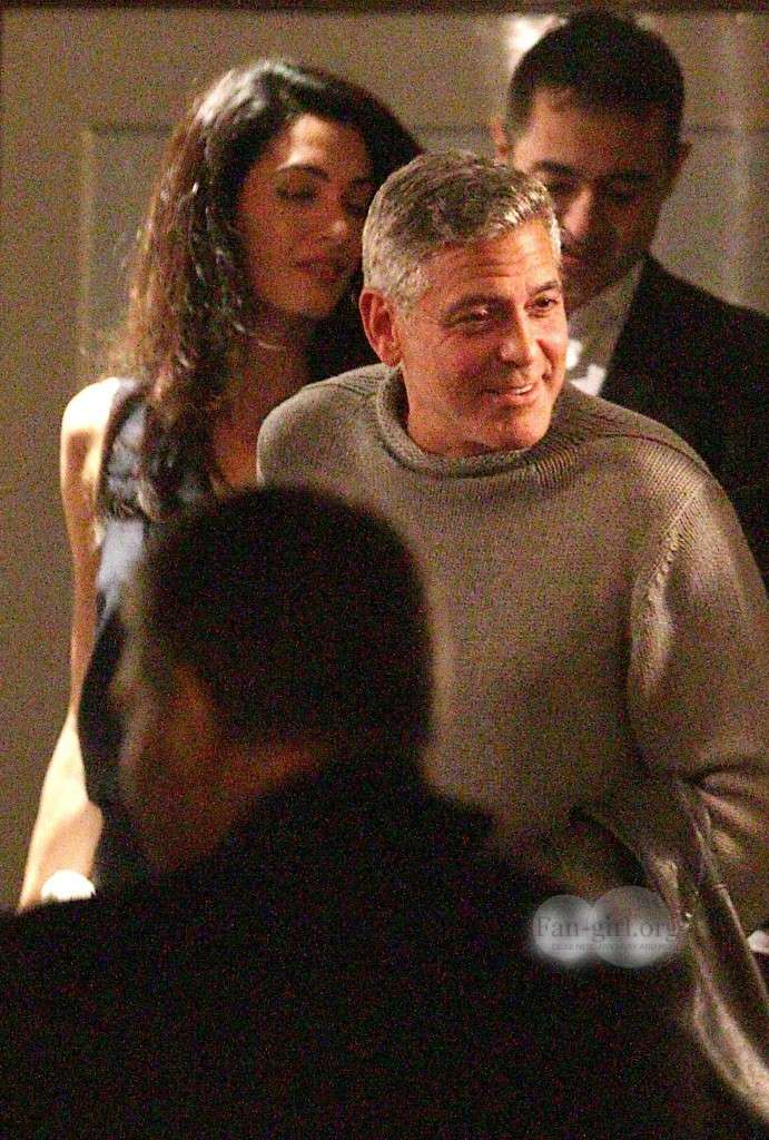 George Clooney with Amal at Harry's Bar What610
