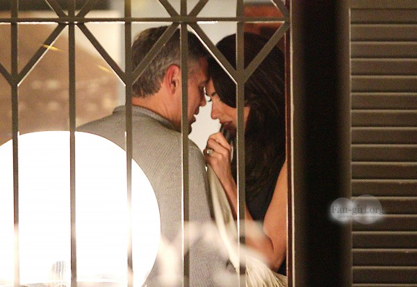George Clooney with Amal at Harry's Bar What710